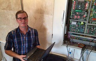 Daniel Ergner از بخش خدمات پس از فروش زیلابگ جهت بازدید از پروژه ها
